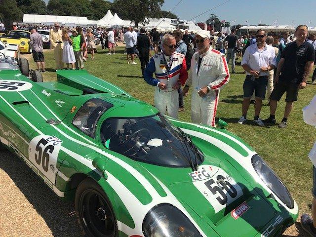 Mit dem Porsche 917 Kurzheck Coupé beim Goodwood-Festival of Speed